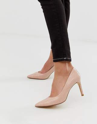 Dune abigail pointed stiletto court shoes-Pink
