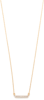 Adina 14k Gold Pave Bar Necklace