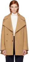 See by Chloe Tan Double-breasted Wool Coat