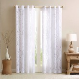 "Nobrand No Brand Layla Sheer Bird Curtain Panel - White (50""x84"")"