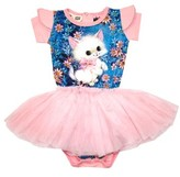 Rock Your Baby Infant Girl's Retro Kitten Circus Bodysuit Dress