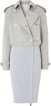 Burberry Ribbed Panel Trench Coat