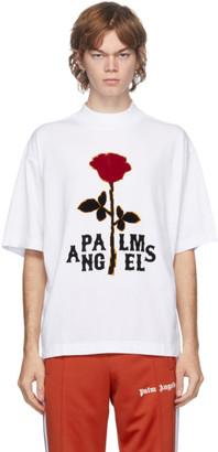 Palm Angels White Rose Boxy T-Shirt
