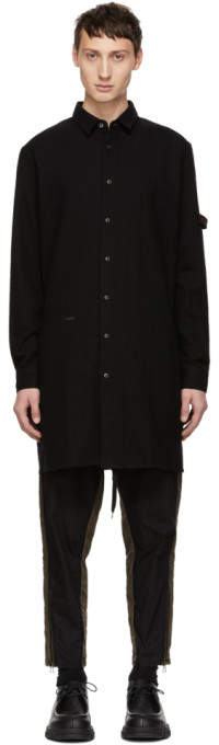 Robert Geller Black The Franz Long Shirt