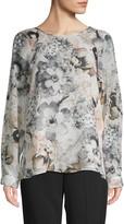 Calvin Klein Collection Floral Raglan-Sleeve Blouse
