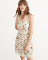 Abercrombie & Fitch Sheer Waist Skater Dress