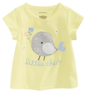 First Impressions Baby Girls Spring-Print Cotton T-Shirt, Created for Macy's