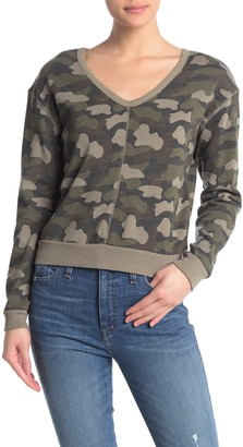 Alternative Slouchy V-Neck Fleece Pullover
