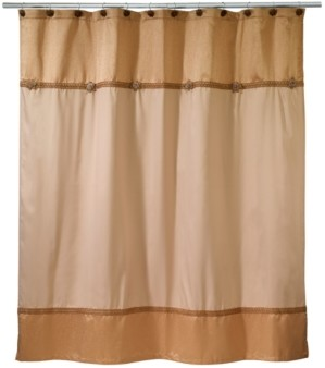Avanti Braided Medallion Colorblocked Shower Curtain Bedding