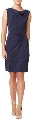 Tahari Arthur S. Levine Sleeveless Cowlneck Sheath Dress