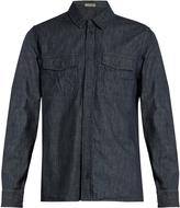 Bottega Veneta Long-sleeved striped denim shirt