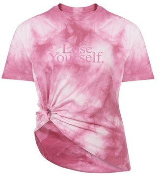 Paco Rabanne Lose Yourself draped t-shirt