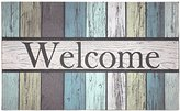 "J & M Home Fashions Painted Fence Welcome Printed Flocked Doormat, 18"" by 30"""