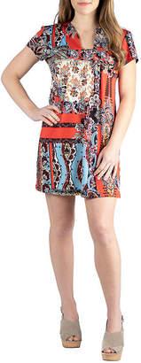 24/7 Comfort Apparel 24/7 Comfort Shortsleeve Short Dress-Maternity