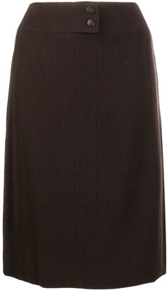 Chanel Pre Owned Straight-Fit Knee-Length Skirt