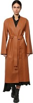 Loewe Long Leather Belted Coat