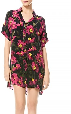 Alice + Olivia Lucette Floral Button Down Shirtdress