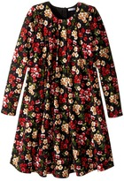 Dolce & Gabbana Back to School Floral Long Sleeve Dress (Big Kids)