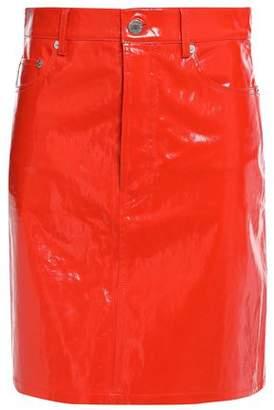 Helmut Lang Patent-leather Mini Skirt