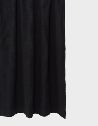 Hawkins New York Simple Waffle Shower Curtain in Black