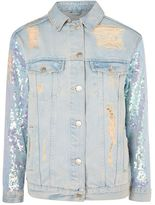 Topshop Moto small sequin jacket