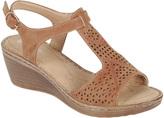 Tan Circle Wedge Sandal