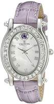 Croton Women's CN207537LVMP Balliamo June Birthstone Analog Display Quartz Purple Watch