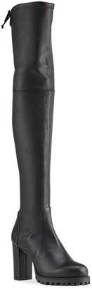 Stuart Weitzman Zoella Over-the-Knee Stretch Leather Boots