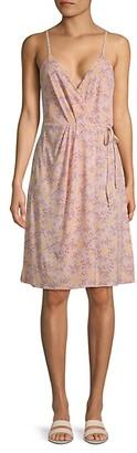 BCBGeneration Floral Wrap-Style Dress