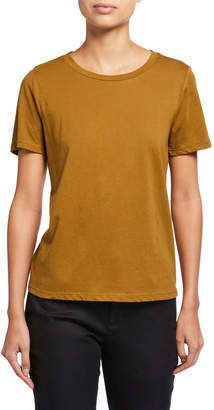 Eileen Fisher Round-Neck Short-Sleeve Organic Cotton Tee