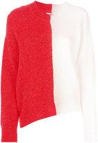 MM6 MAISON MARGIELA bi-colour asymmetric jumper - women - Acrylic/Polyamide/Spandex/Elastane/Wool - M