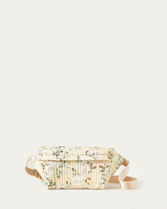 Loeffler Randall Shiloh Tan Floral Commuter Pack