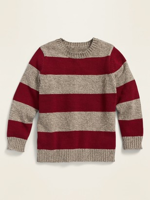 Old Navy Rugby-Stripe Crew-Neck Sweater for Toddler Boys