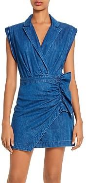 7 For All Mankind Cotton Ruffled Blazer Dress