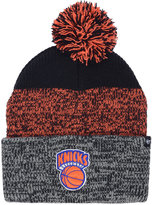 '47 New York Knicks Black Static Pom Knit Hat