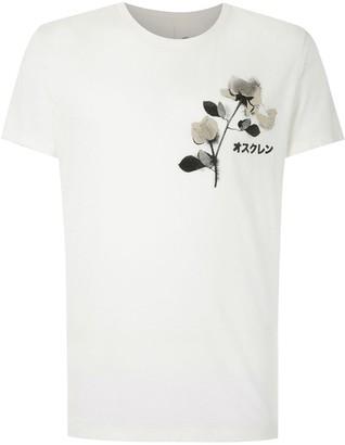 OSKLEN floral-print cotton-blend T-shirt