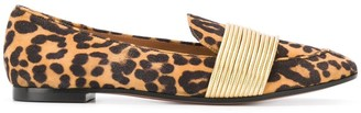 Aquazzura Rendez Vous animal print loafers