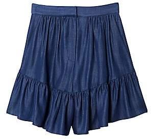 Tibi Women's Ruffle Hem Wide-Leg Shorts