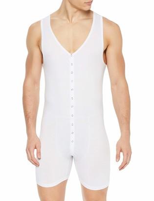Doreanse Men's 5002 Boxer Body Suit (White/XL)
