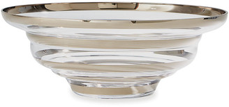 "Global Views 22"" Saturn Decorative Bowl - Platinum platinum/clear"