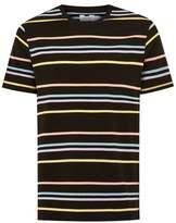 Topman Mens Multi Black Rainbow Striped T-Shirt