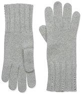 Portolano Women's Cashmere Gloves, Grigio Charo Melange
