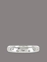 Autograph Sterling Silver Scatter Diamanté Ring