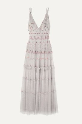 Needle & Thread Neve Embellished Tulle Gown - Lilac