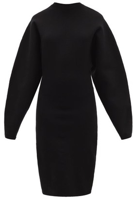 Acne Studios Krysten Structured Jersey Dress - Womens - Black