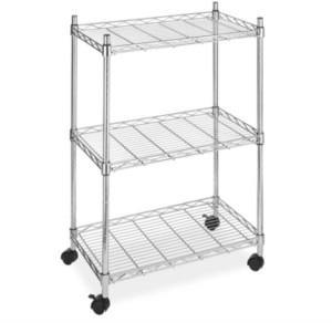Whitmor Supreme 3-Tier Rolling Cart