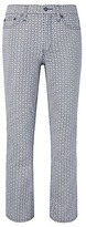 Tory Burch Pannier Cropped Straight-Leg Jean