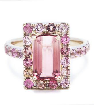 Yi Collection Tourmaline Bubble Gum Deco Ring