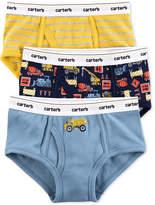 Carter's 3-Pk. Construction Trucks Cotton Briefs, Little Boys & Big Boys