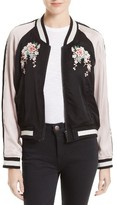Joie Women's Juanita Embroidered Bomber Jacket